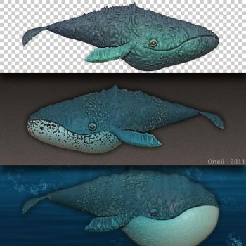 Procedural whales by Orteil