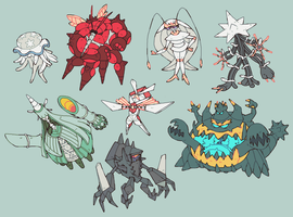 ULTRABEASTS + NECROZMA by splendidland