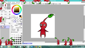 Red Pikmin Shimeji by Twin-Cats