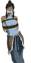 Korra Tied Up & Gagged by songokussjsannin8000