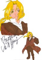 Edward Elric Signed by Vic by TaCDLunaria91
