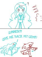 Arella Q# 7 GIVE ME BACK MY GEM!!! by cartoongirl211