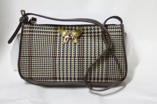 Butterfly Houndstooth Purse by One-Eyed-Kitty