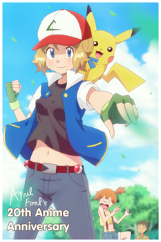 Pokemon Anime 20 Year Anniversary/April Fool's by DaDonYordel