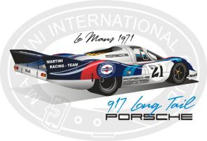 '71 Porsche 917 Long Tail by kenpoist