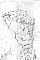 Taking a relaxing Shower (Optimus Prime TFP) by Lady-Elita-1