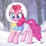 pinkie pie and winter by Uher0