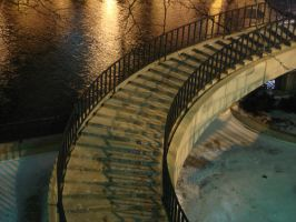 Chicago Stairs by nothingxtragic