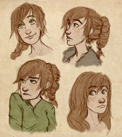 fem!hiccup hairstyle by AvannaK