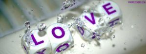 Love-cubes-in-water-facebook-cover by fbcoolcovers