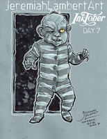 Dead Alive Baby - Inktober Day 7 by JeremiahLambertArt
