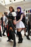 Squall Leonhart and some pretty lady by Ursarus