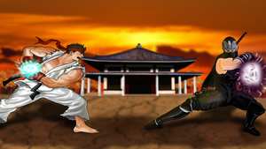 Ryu Vs Ryu by HayabusaSnake