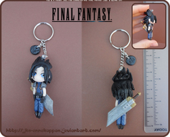 Final Fantasy - Chibi Zack fair keychain by Nko-ennekappao