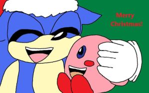 Secret Santa Sonic and Kirby by Emily-Young