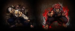 Gouken vs Gouki by Ntocha