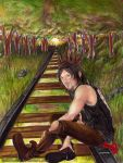 Daryl Dixon  - The walking dead - other sunset by zelldinchit
