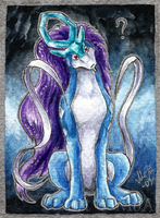 Stumped Suicune ACEO by Sysirauta