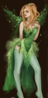 green fairy Liadain by kiikii-sempai