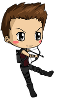 Hawkeye Chibi by IcyPanther1