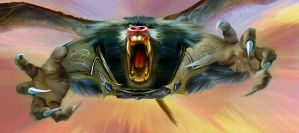 Oz Flying Baboon by jbeau3d