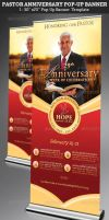 Pastor Anniversary Pop-Up Banner Template by Godserv
