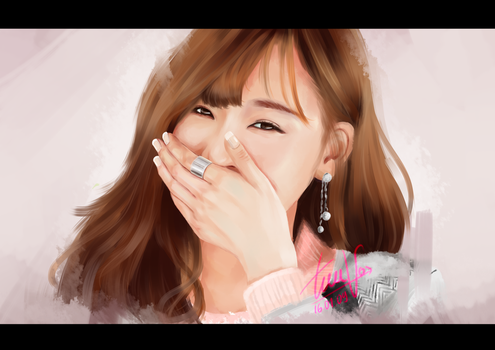 [PAINTING] Tiffany - shining smile by TieuVo