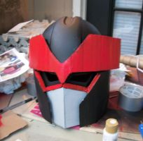 MegaZord Helm WIP 2 by ShadowMaginis