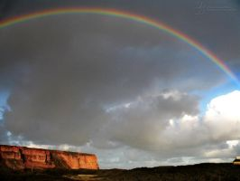 Rainbow over Helgoland by DuchesseOfDusk