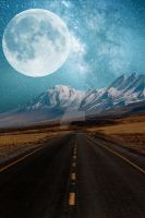 Moon and Mountains Background Vertical FGM by FairieGoodMother