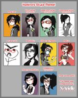 Yamino's Style Meme :D by Ehryel