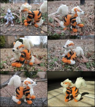 Posable Needle Felted Arcanine by SnowFox102