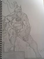 Pencil batman by Scottheneghan
