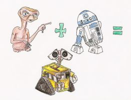 ET plus R2D2 equals: WallE by Nandah