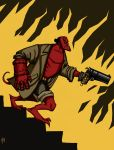 Hellboy down the way by ZlayerOne