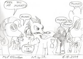Doctor Whooves Vs Gas Masked Ponies by Sricketts14381