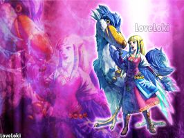 Zelda Skyward Sword Wall by LoveLoki
