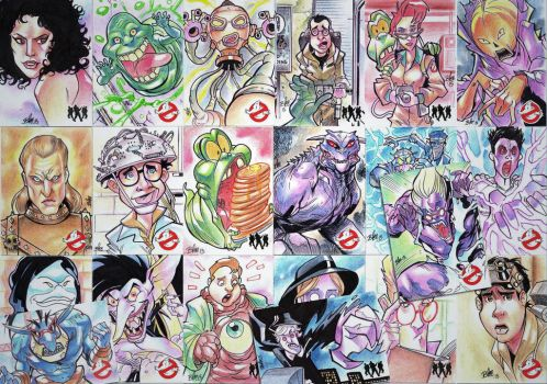 Ghostbusters sketch cards by toonfed