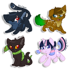 Chibi commission batch by CrispyCh0colate