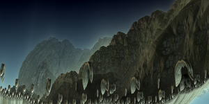 The Fractal Hills by Jakeukalane