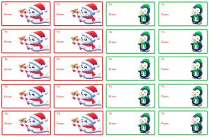 Christmas Gift Labels by LMColver