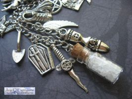 On the Hunt Charm Necklace by SpellsNSpooks