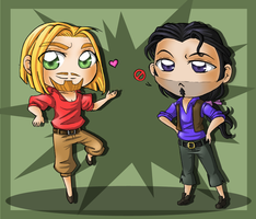 Miguel and Tulio, Tulio and Miguel by ocelot-girl