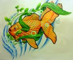 Goldfish Tattoo Design by joshing88