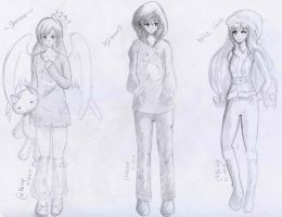 free art for shawne, emma and mika chan by keiZap