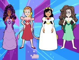 CmSU - Me and my friends in formal dresses by Magic-Kristina-KW