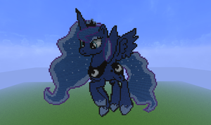 ~Minecraft Pixel Art : Luna~ by F6ema