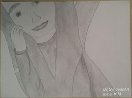 School Project - Portrait of a Girl by SyncedsArt