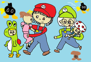 mj and friends as the mario bros 2 by GothicTaco198