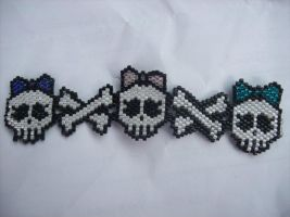 Skull and Crossbone Anklet by screaminmimi79